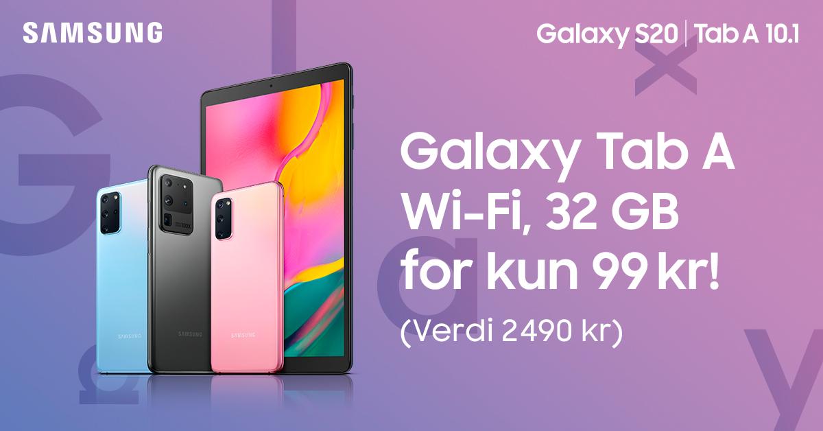 Samsung Galaxy Tab A til kun kr 99