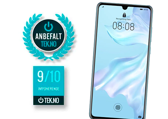 Test Huawei P30 tek.no 9/10 - anbefalt