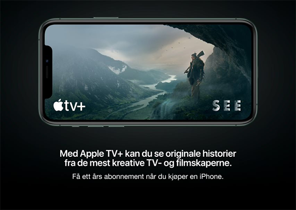 Apple TV+ 1 år gratis